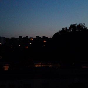Beobachtungsabendstimmung in Berlin-Gropiusstadt