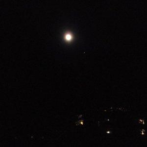 Mond und Jupiter 4 Grad Konjunktion