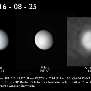 Venus am Taghimmel, 25. August 2016
