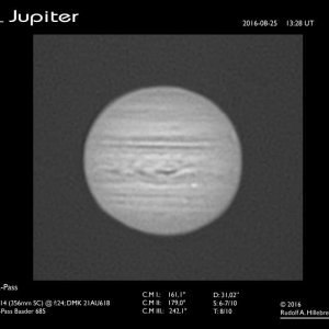 Jupiter, Taghimmel 25. August 2016