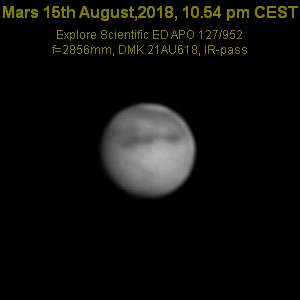 Wabber- Mars 15.8.18 im Explore Scientific ED APO