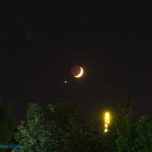 Tête à tête von Mond und Venus