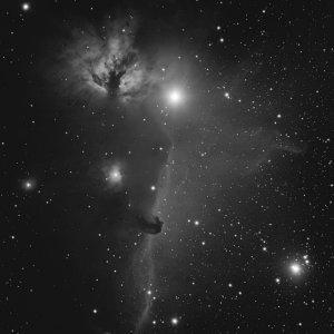 IC434 mit Pferdekopfnebel und Flammennebel