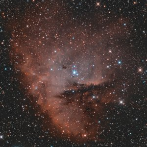 NGC 281 nun mit Hα