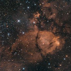 IC 1795 - Fishkopf-Nebel - nun mit Hα
