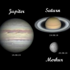 Jupiter - Saturn - Merkur