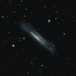 NGC3628 Hamburger-Galaxie