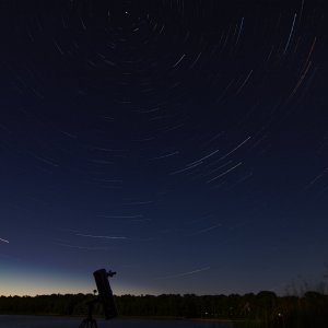 Startrails am See
