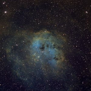 NGC1893-IC410 in Ha-OIII-SII als Hubble Palette