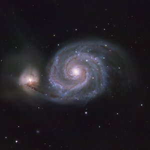 M51 (Whirlpool Galaxy) in L-RGB