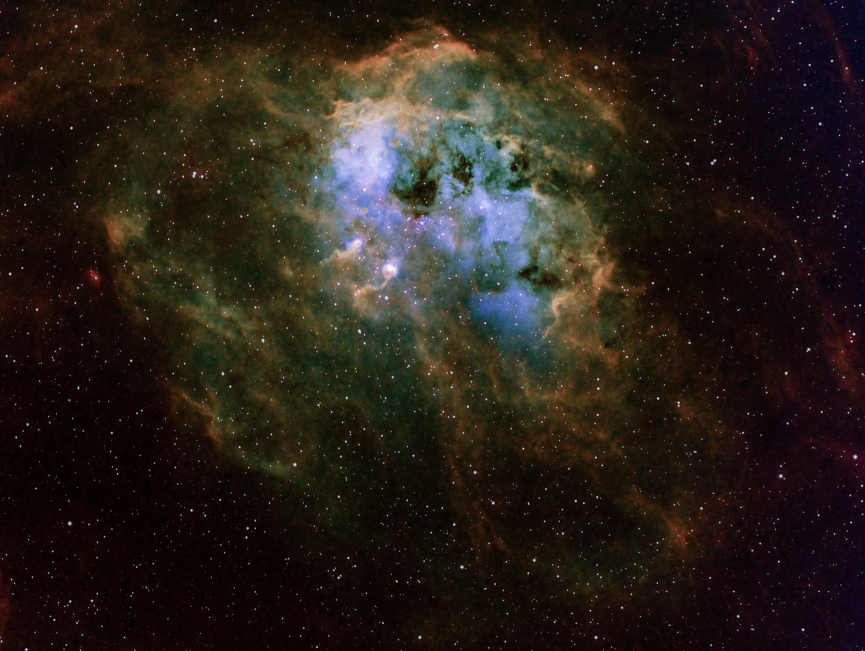 IC 410 in Hubble Palette