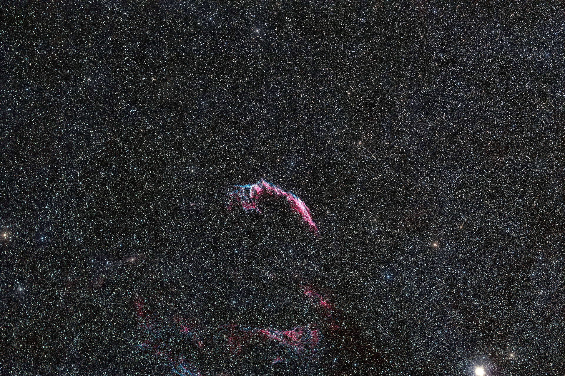 NGC 6992 in 180mm RGB